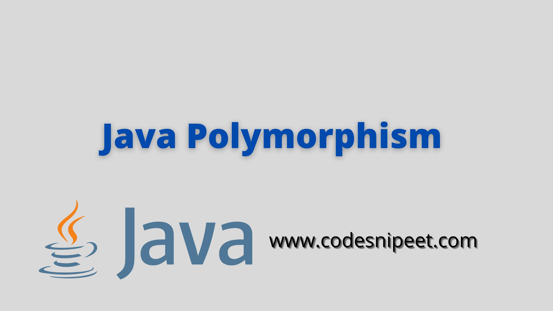 Java Polymorphism | Java